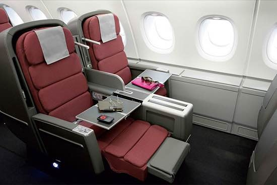 Qantas: conforto total na Business Class